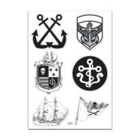 Mygoodprice - Planche A4 de stickers ancre marine autocollant adhésif – F43