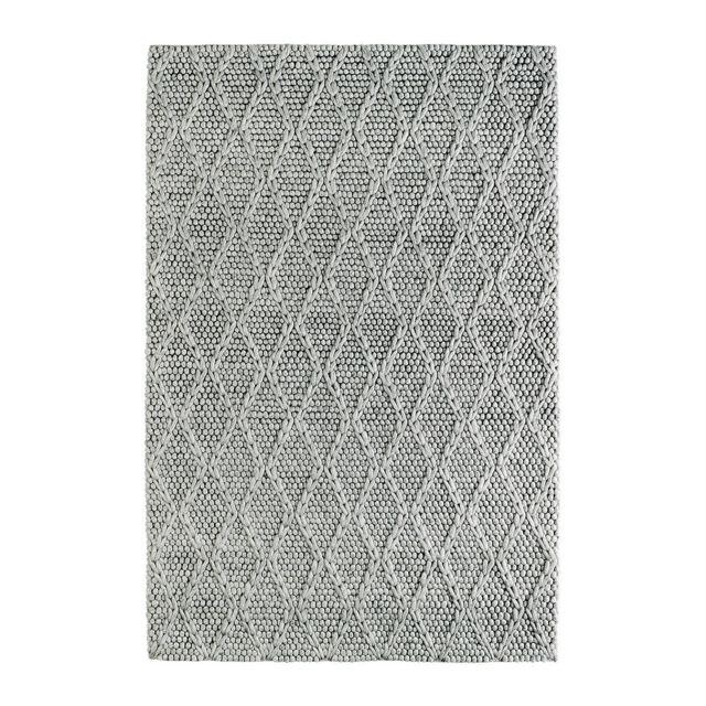 deladeco tapis m lange laine et viscose fait main argent geon pas cher achat vente tapis. Black Bedroom Furniture Sets. Home Design Ideas