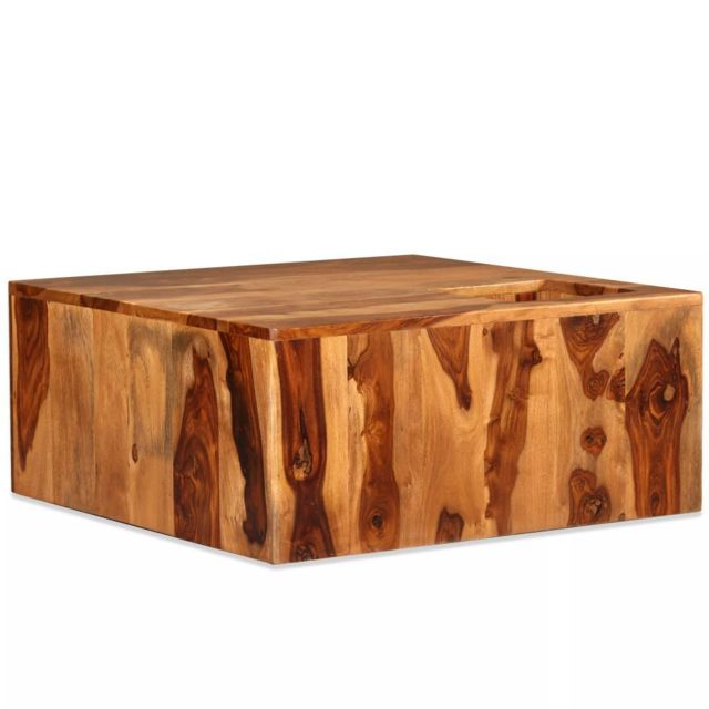 Vidaxl Bois Massif de Sesham Table Basse Table d'Appoint Meuble de Salon