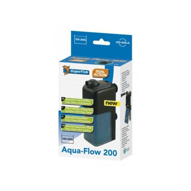 Le Poisson Qui Jardine Filtre interne 400 l/h pour aquarium Superfish Aqua Flow 200