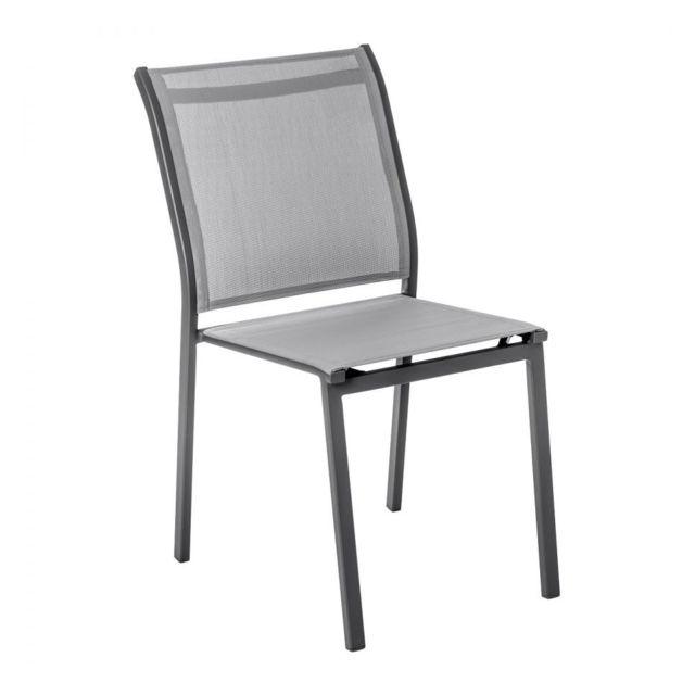 Chaise extérieur Essentia graphitegalet Hespéride