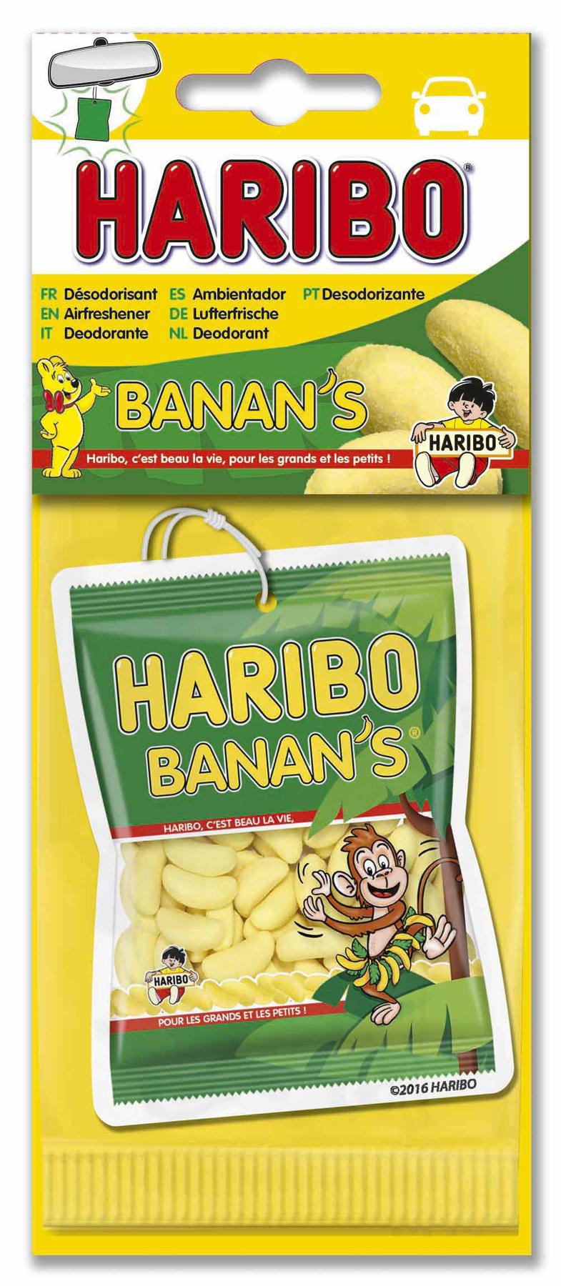 HARIBO HARIBO® carte parfumée. Senteur BANAN'S®