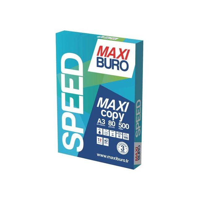 Maxiburo - Ramette papier Speed A3 80g 500 feuilles - blanc
