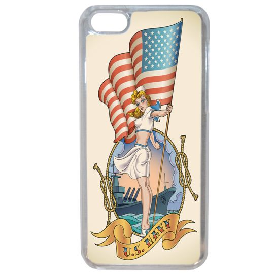 Lapinette - Coque Rigide Pin-Up Usa Pour Apple Iphone 8 Plus