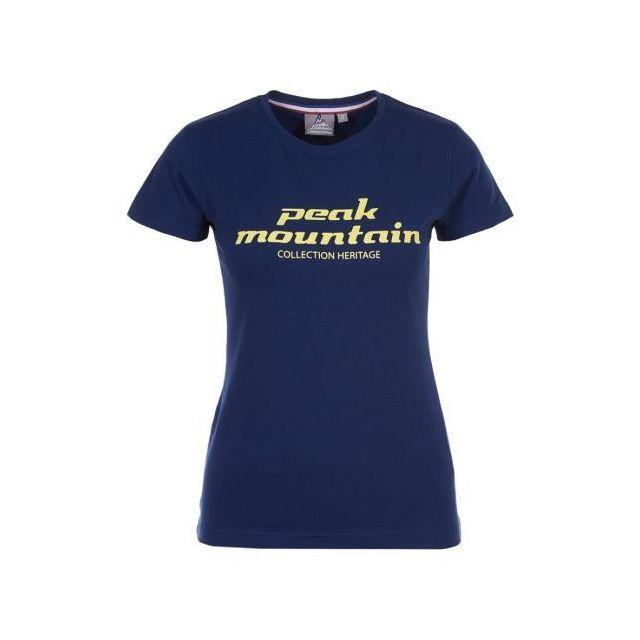 Peak Mountain - Tee-shirt femme Acosmo-marine-