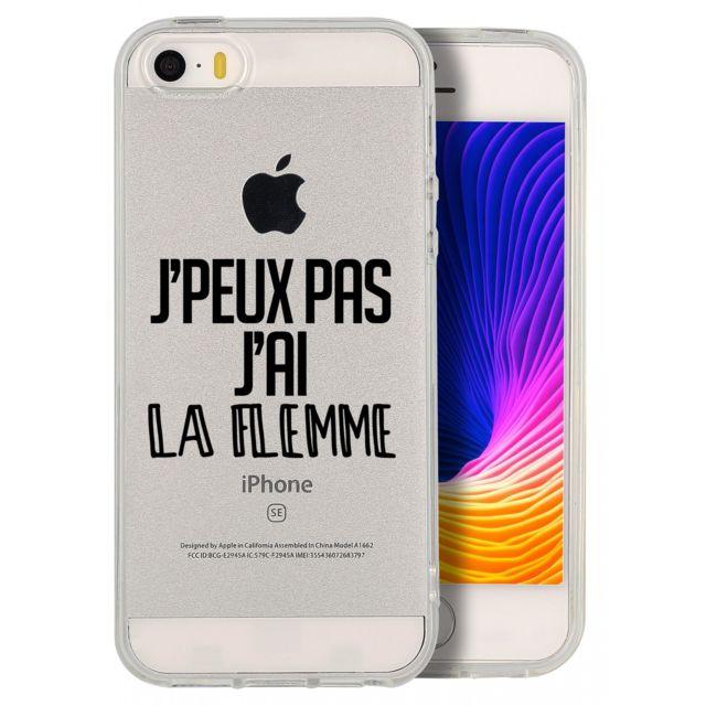 coque jpeu pas jai la flemme pour apple iphone 5s iphone se