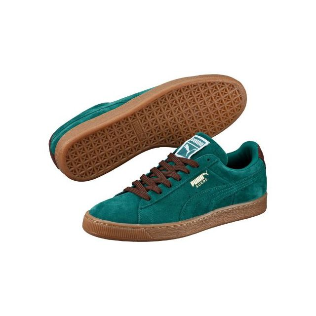 df5519c17c8 Puma - Chaussures Suede Storm Vert Turquoise Semelle Brune - pas cher Achat    Vente Baskets homme - RueDuCommerce