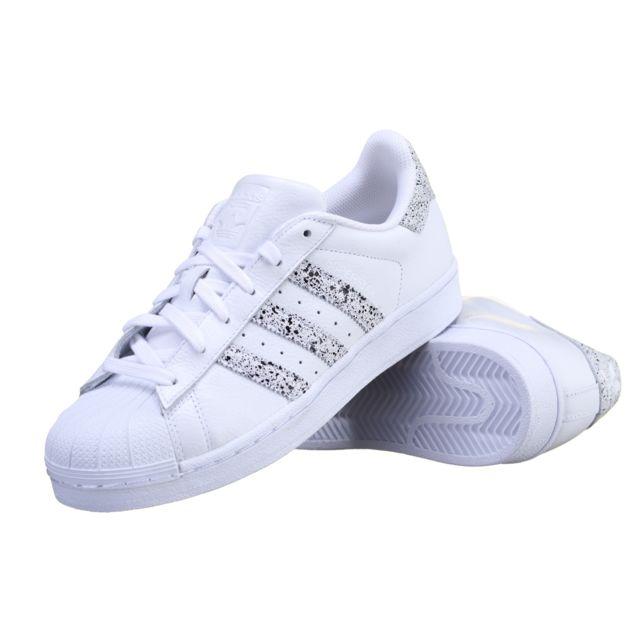 5712edaaeb9c Adidas - Chaussure Superstar B42620 Blanc - pas cher Achat   Vente Baskets  homme - RueDuCommerce