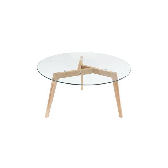 Miliboo Table Basse Ronde Design Contemporain Verre Et