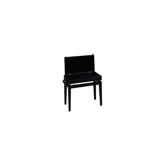 Banquette Piano blanc brillant Stagg PB05 avec pelote en velours noir