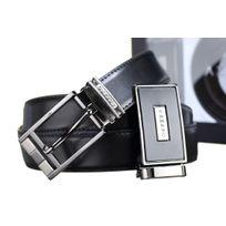 Azzaro - Ceinture Coffret 2 Boucles 737 Reversible Noir/Marron