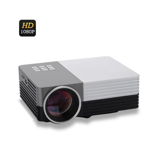 Auto-hightech Mini Projecteur Lcd Led - 80 Lumens, 1080p, Hdmi, 30 à 200 pouces de projection, 500: 1 Contraste