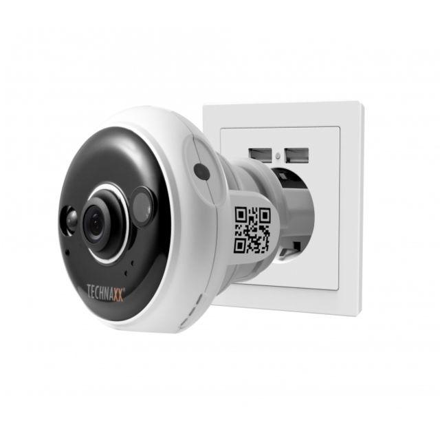 Technaxx   Caméra De Surveillance Tx 57 Ip Full Hd Sans Fil Sur Prise  électrique Fixe Intérieur Jour Et Nuit Detection De Mouvement Alerte App    Pas Cher ...