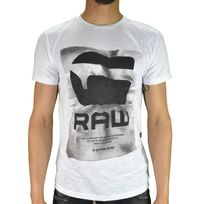 G-star Raw - G Star Raw - T-shirt Manches Courtes - Homme - Lenk 1 - Blanc