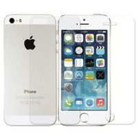 Cabling - Protecteur d'écran pour l'avant et à l'arrière de Apple iPhone 5, 5S en verre trempé // 0,3mm / 9H / 2.5D - Film Vitre Protection Front Back
