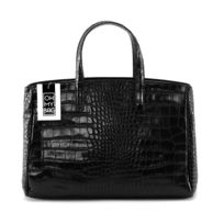 Oh My Bag - Sac à Main femme cuir Façon Croco - Modèle Be Lady noir