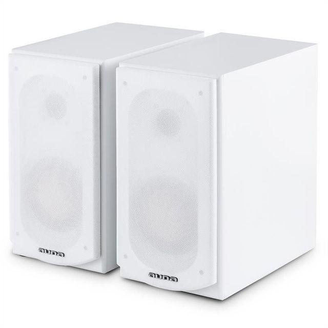 AUNA Linie 501 BS-WH enceintes pour étagères 100W passives blanches