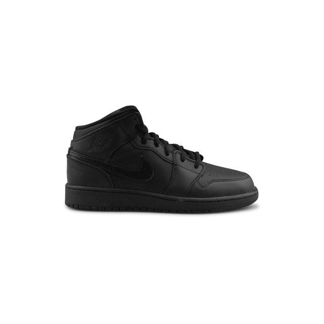 newest fdcc6 38254 Nike - Air Jordan 1 Mid Junior Noir 554725-044
