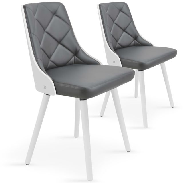 Lot Chaises Blancamp; Gris De Lalix 2 Scandinaves doCWxBeQrE