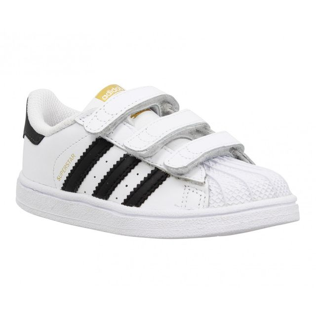 Blanc Adidas Cuir Noir Superstar Enfant Pas 26 Cher Foundation rwFRwXqS