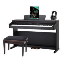 Classic Cantabile - Dp-50 Rh Piano Numérique Bois de Rose avec banc de piano, casque