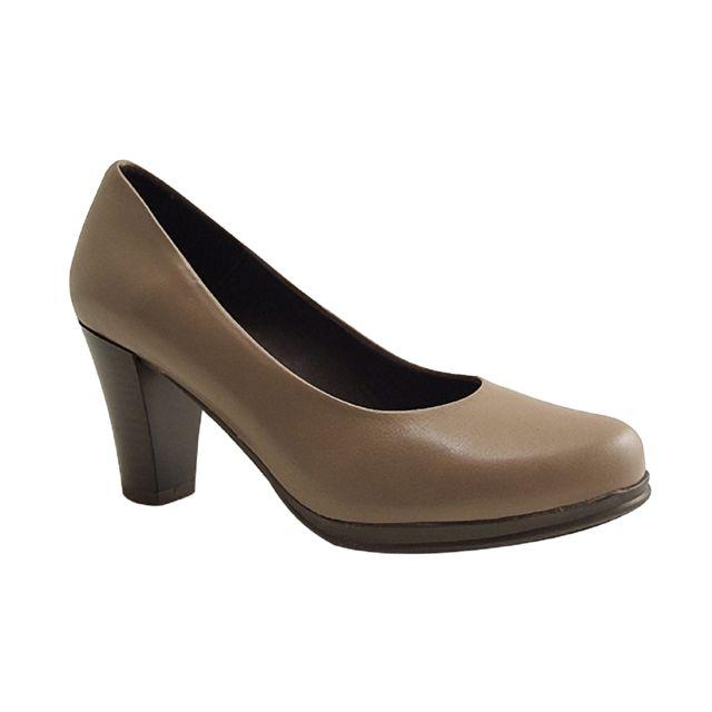 c0ab9223dc Karston - lock-escarpins-taupe - pas cher Achat / Vente Chaussures de ville  femme - RueDuCommerce