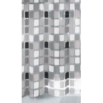 Kleine Wolke - 4956901305 Sonny Rideau de Douche Anthracite 200 x 180 x 0,09 cm