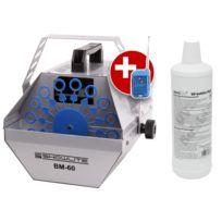Showlite - Bm-60 machine à bulles de savon, y compris fluide bleu