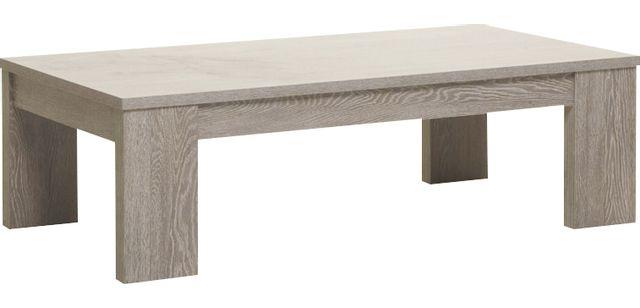 Comforium Table basse de 130 cm contemporaine coloris chêne