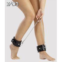 Zado Collection - Menottes Chevilles Cuir Noires