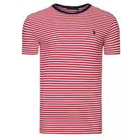 Ralph Lauren - T-shirt rayé ajusté rouge blanc L