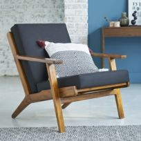 chaise accoudoirs scandinave vintage