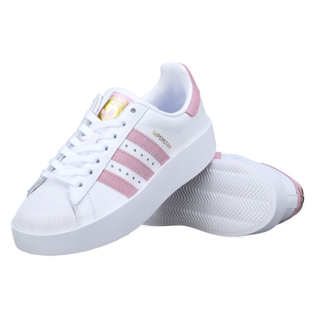 Adidas - Basket Superstar Bold W By9076 Blanc / Rose