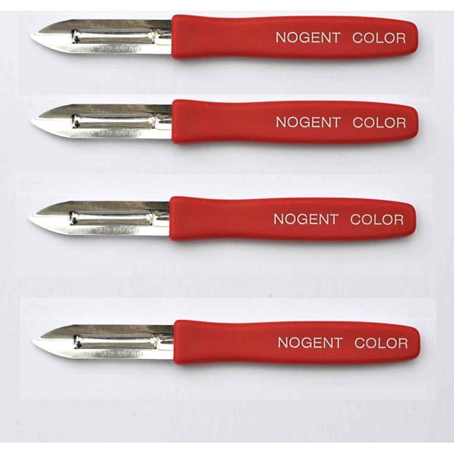 Sans Lot De 4 Eplucheur Nogent 2 Tranchant Color Rouge Cuisine