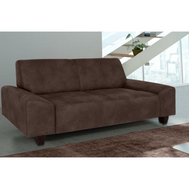 Rocambolesk Canapé Quick 2 Tobago 14 brun+pieds venge sofa divan