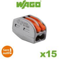Wago - Boite de 15 bornes de connexion automatique 2 entrées S222