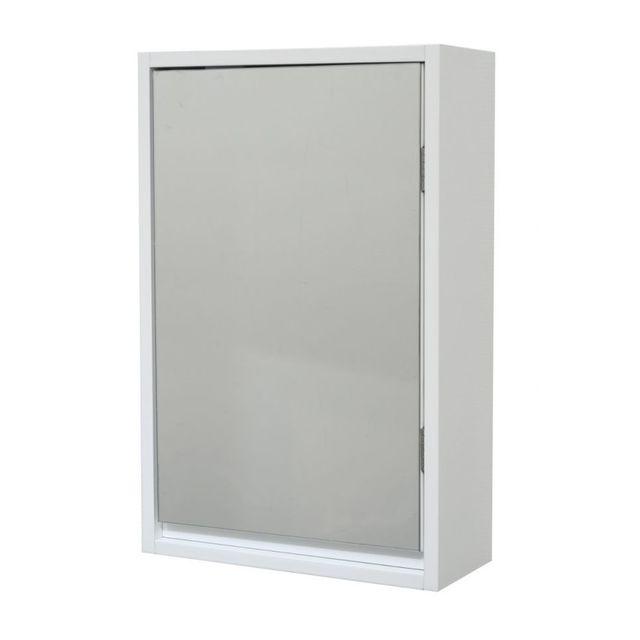 Miroir Blanc Mural : Tendance meuble miroir mural blanc pas cher achat