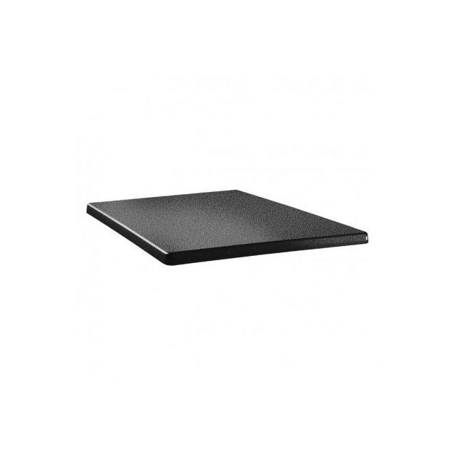 Topalit Plateau de table carré anthracite 700 mm Anthracite 700 mm