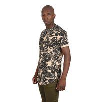 Tee shirt effet délavé homme Paris, Taille: M, Couleur: Beige