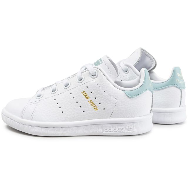 Adidas originals - Stan Smith Enfant Blanche Et Bleu ...
