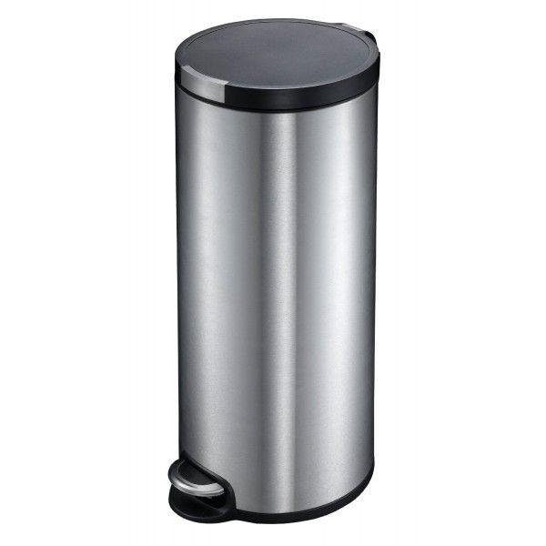 Ogo Living Poubelle Cylindre Inox Brosse 30 Litres Ref 10105