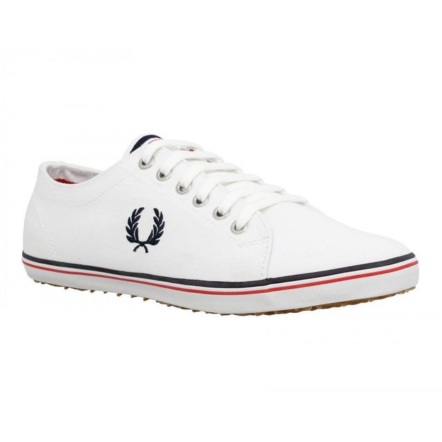 d54022ac47b7 Fredperry - Fred Perry Kingston toile Homme-43-Blanc + Marine - pas ...