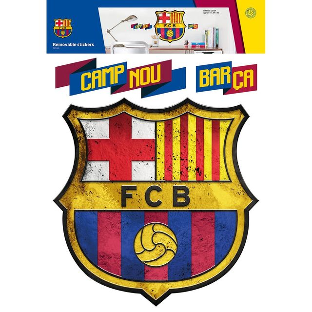 Bebe Gavroche Sticker Geant Logo Fc Barcelone 45x45 Cm Pas Cher