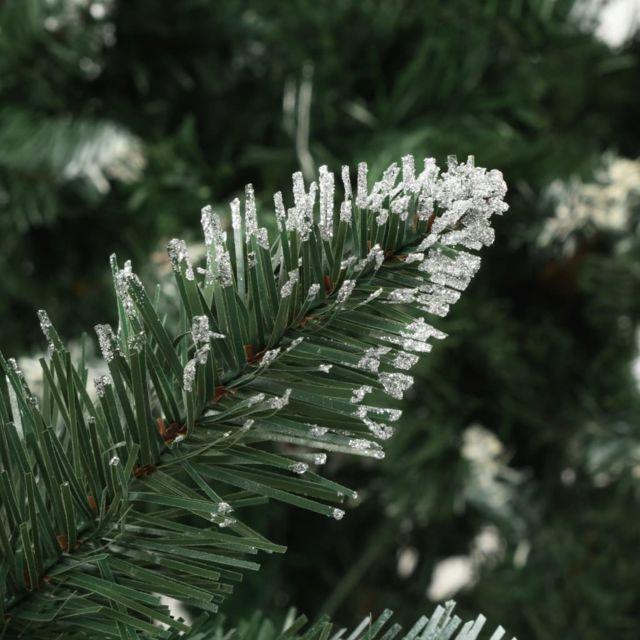 Icaverne - Décorations de Noël categorie Sapin de Noël avec pommes de pin et paillettes blanches 150 cm