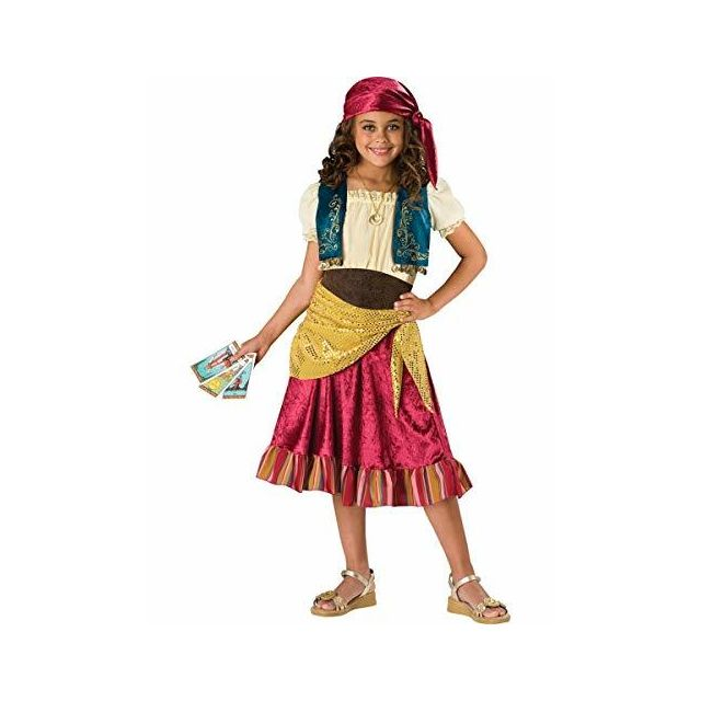 Fun World InCharacter Costumes Girls Gypsy Dress Costume Multi Color Large