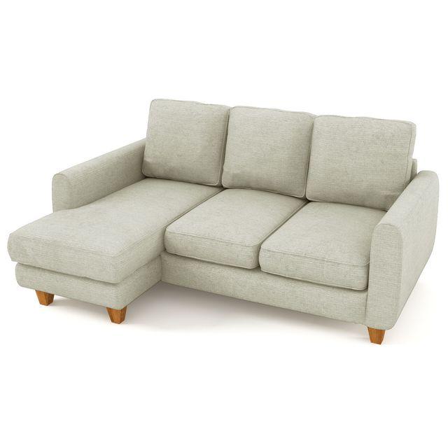HABITAT ET JARDIN Canapé d'angle tissu Nils - 3/4 places - Gris - Angle gauche