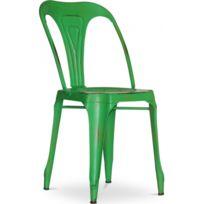 Privatefloor - Chaise Industrielle Vintage Multipl's - Métal Vert foncÃ