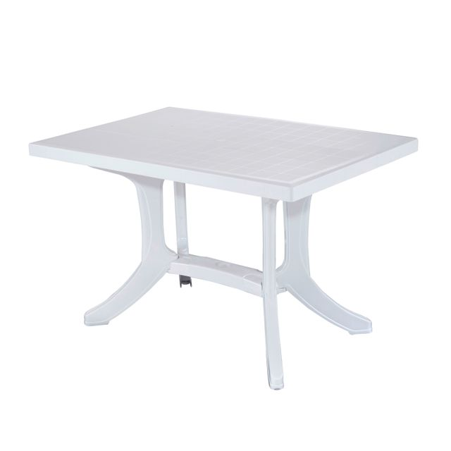 Allibert Balcon Table Pliante Ancona 4 Places Blanche 77cm X