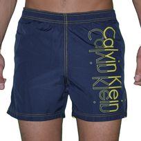 Calvin Klein - Short De Bain - Homme - Ck One - Navy Jaune