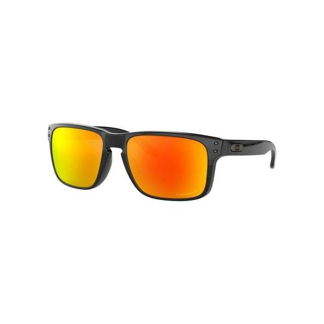 bcfe396ed98da2 Oakley - Lunettes Holbrook O Polished Black avec verres Prizm Ruby Polarized